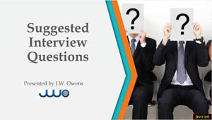 Suggested Interview Questions